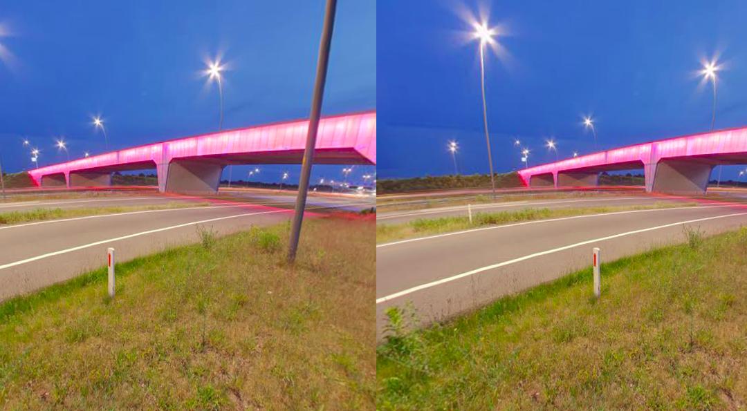 Brainport viaduct by night