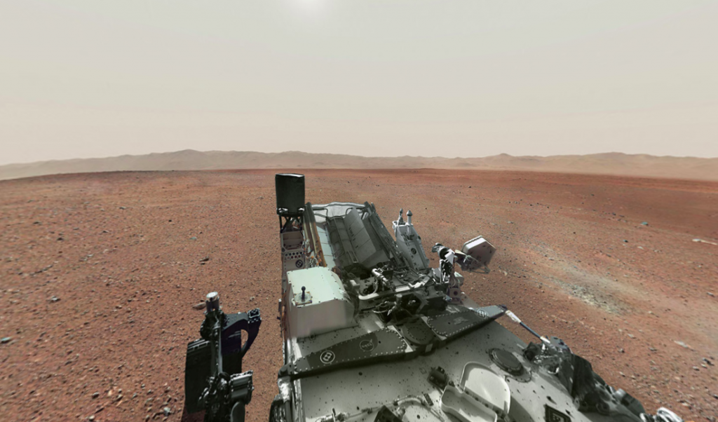Look around on Mars in virtual reality